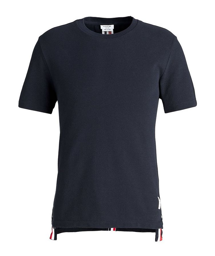 Back Stripe Cotton Pique T-Shirt image 0