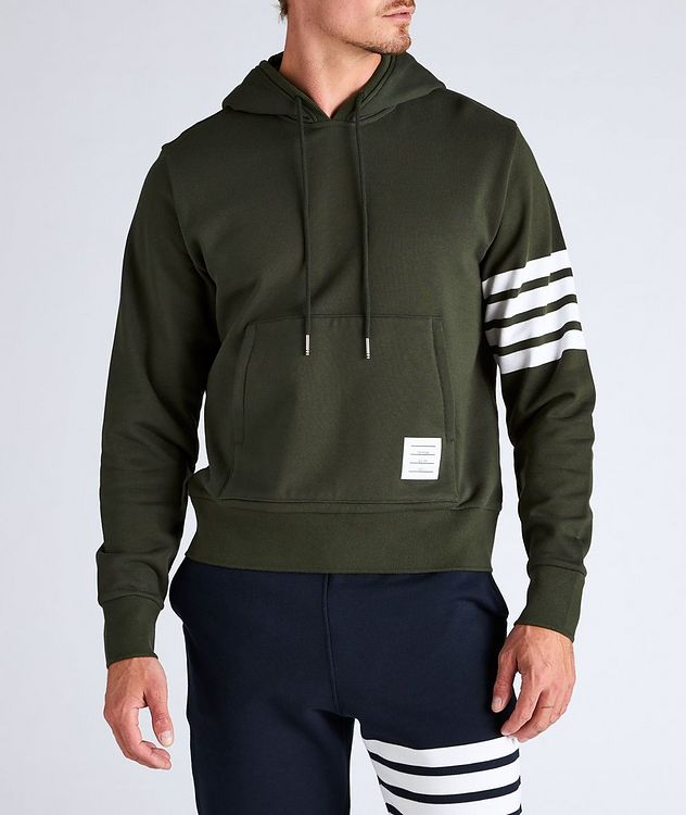 Four-Bar Stripe Cotton Hoodie picture 2