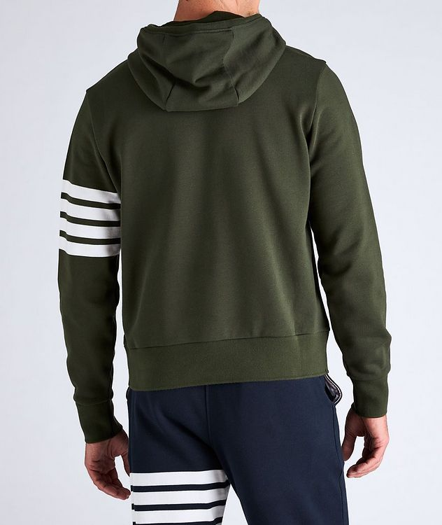 Four-Bar Stripe Cotton Hoodie picture 3