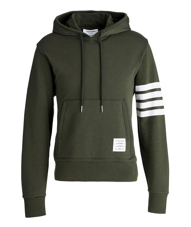 Four-Bar Stripe Cotton Hoodie picture 1