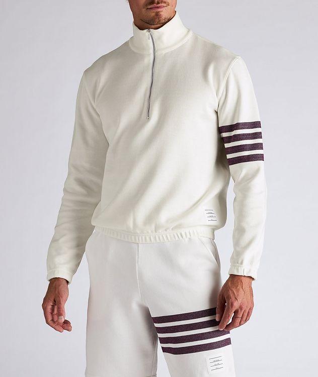 Half-Zip Cotton Funnel Neck Sweater picture 2