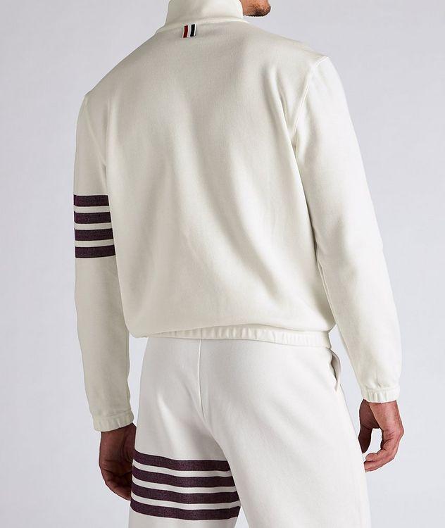 Half-Zip Cotton Funnel Neck Sweater picture 4