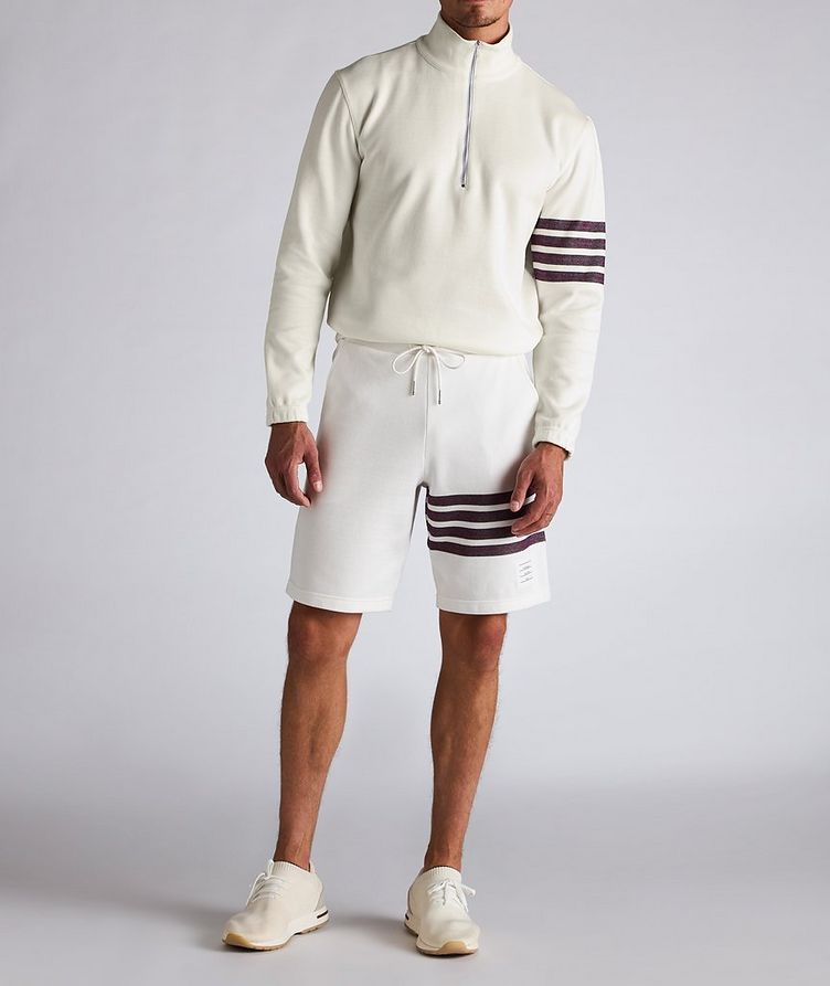 Half-Zip Cotton Funnel Neck Sweater image 4