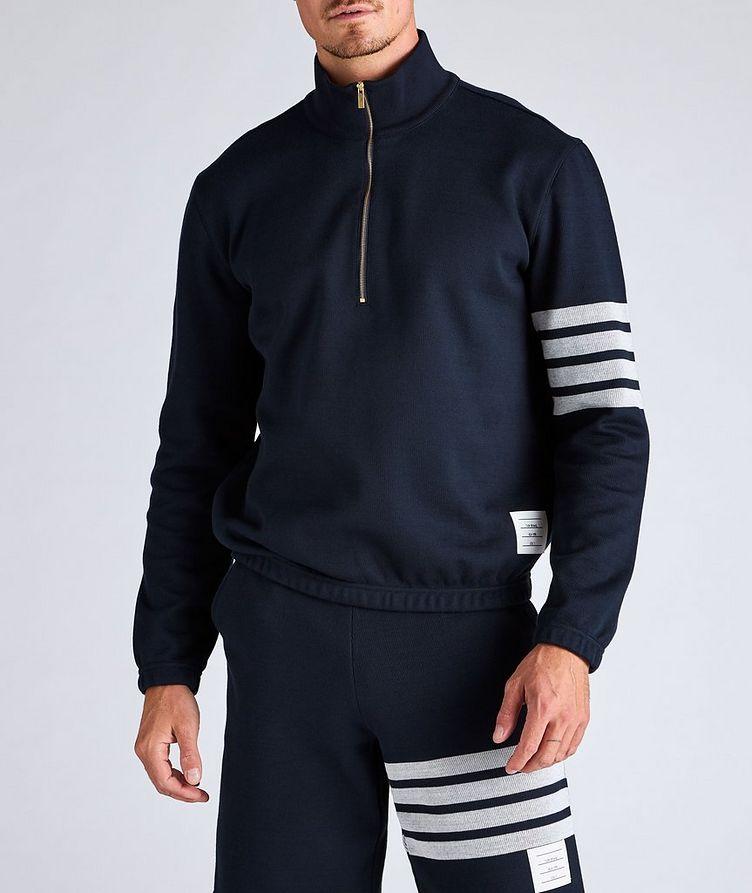 Half-Zip Cotton Funnel Neck Sweater image 1