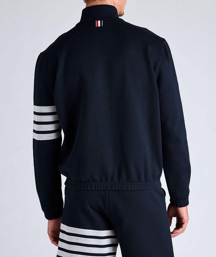 Half-Zip Cotton Funnel Neck Sweater image 2