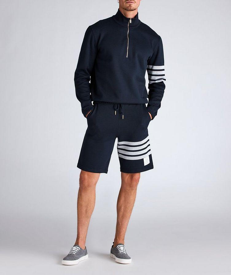 Half-Zip Cotton Funnel Neck Sweater image 3