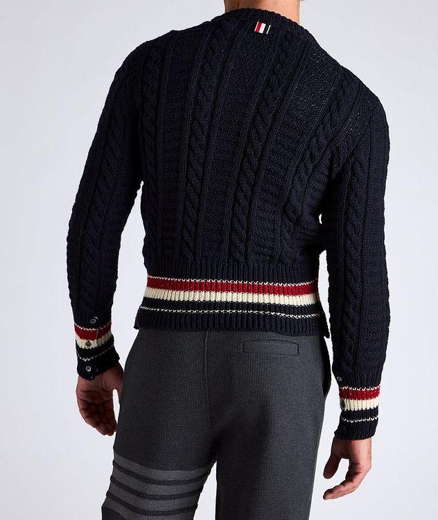 Pull en tricot torsadé de laine et mohair à rayures picture 3