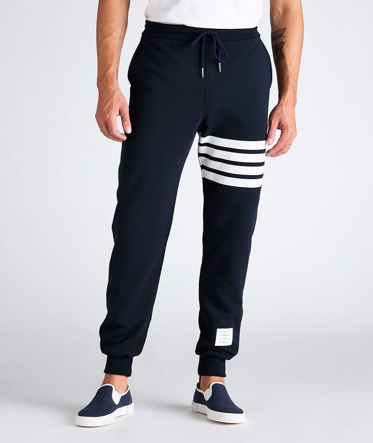 Four-Bar Stripe Cotton Sweat Pants image 1