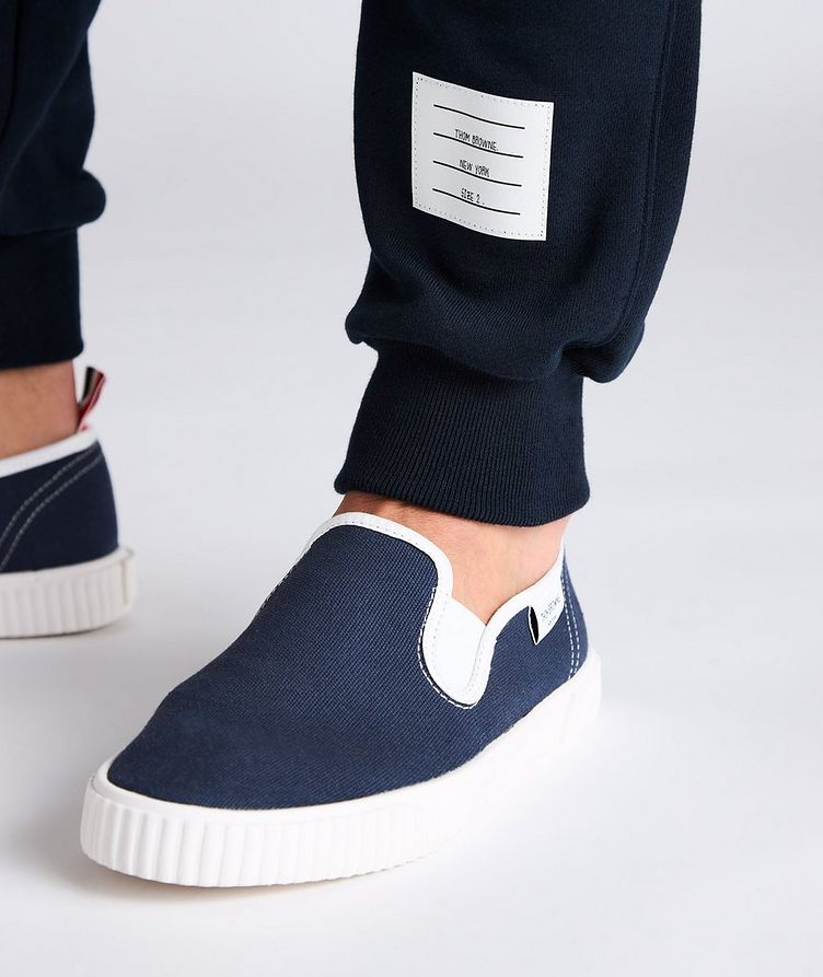 Four-Bar Stripe Cotton Sweat Pants image 3