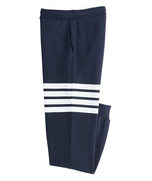Thom Browne Four-Bar Stripe Cotton Sweat Pants