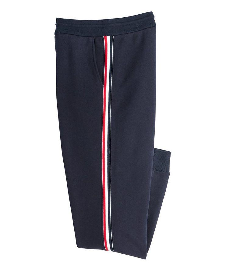 Stripe Drawstring Cotton Sweat Pants image 0