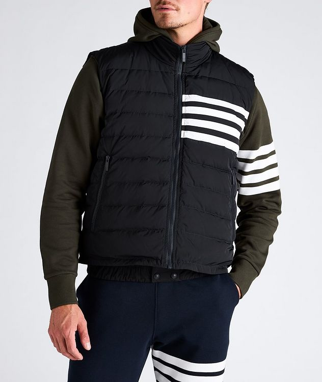 Four-Bar Stripe Quilted Down Vest picture 2