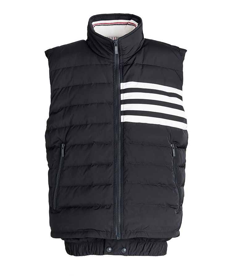 Four-Bar Stripe Quilted Down Vest image 0