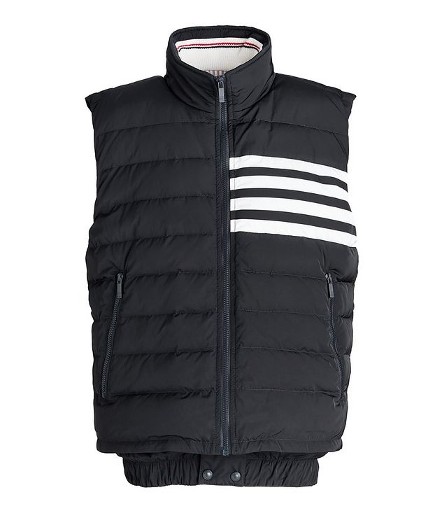 Four-Bar Stripe Quilted Down Vest picture 1