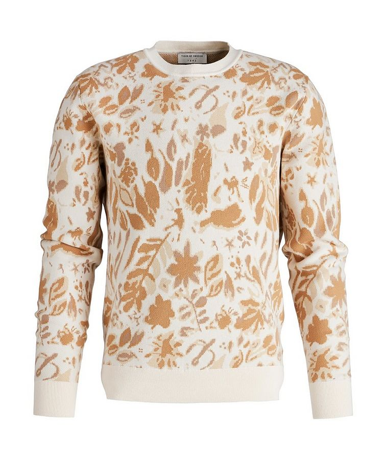 Floral Printed Cotton Sweater image 0