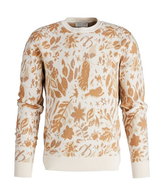 Floral Printed Cotton Sweater picture 1