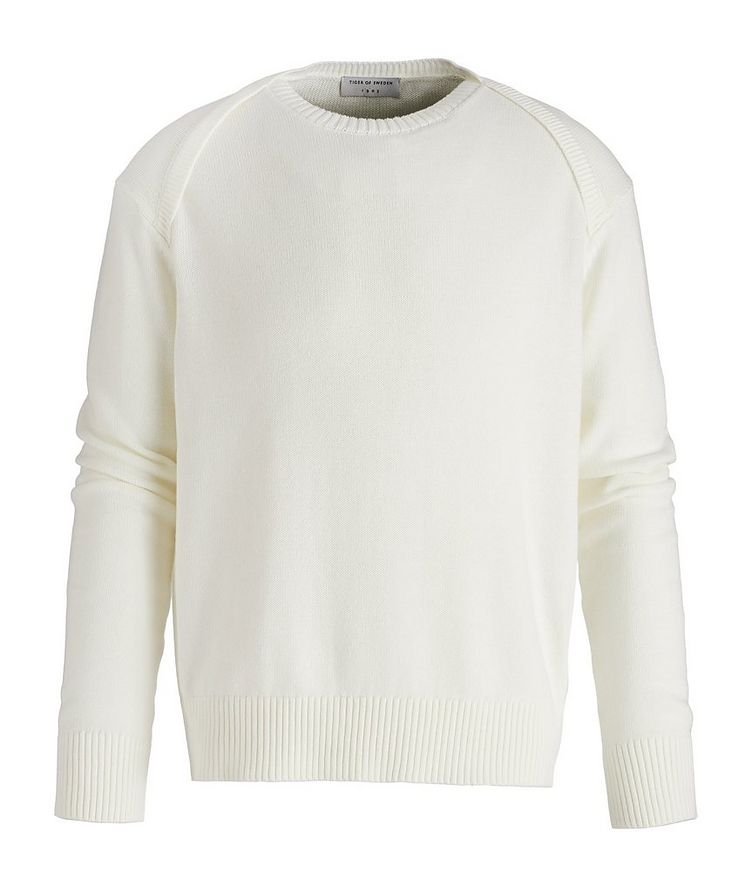 Raglan Sleeve Cotton Sweater image 0