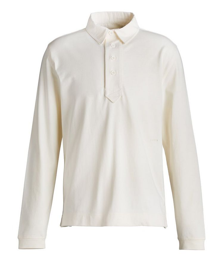 Emilen Long-Sleeve Cotton Rugby Polo image 0