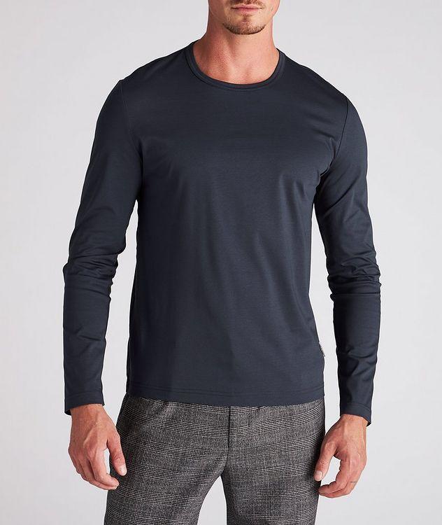 T-shirt en coton mercerisé à manches longues picture 2