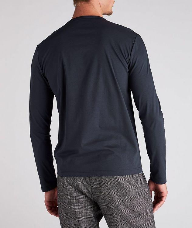 T-shirt en coton mercerisé à manches longues picture 3