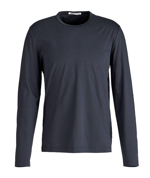 Long-Sleeve Mercerized Cotton T-Shirt picture 1