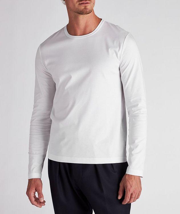 Long-Sleeve Mercerized Cotton T-Shirt picture 2