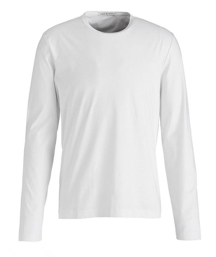Long-Sleeve Mercerized Cotton T-Shirt image 0