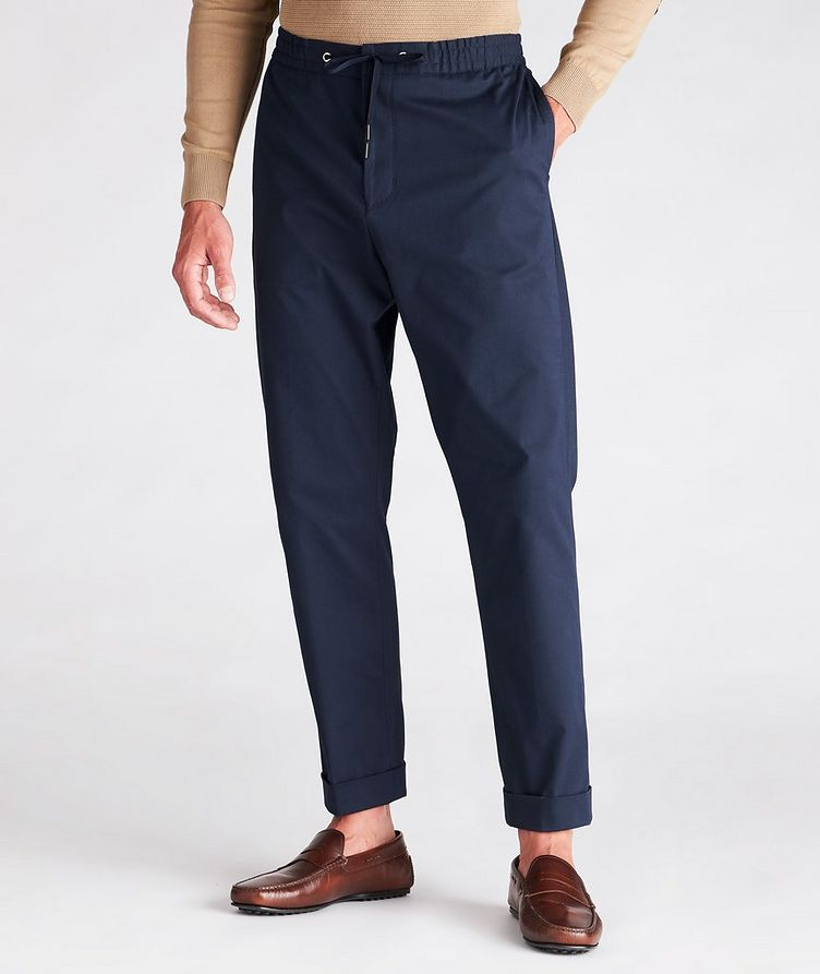Travin Drawstring Stretch-Cotton Pants image 1