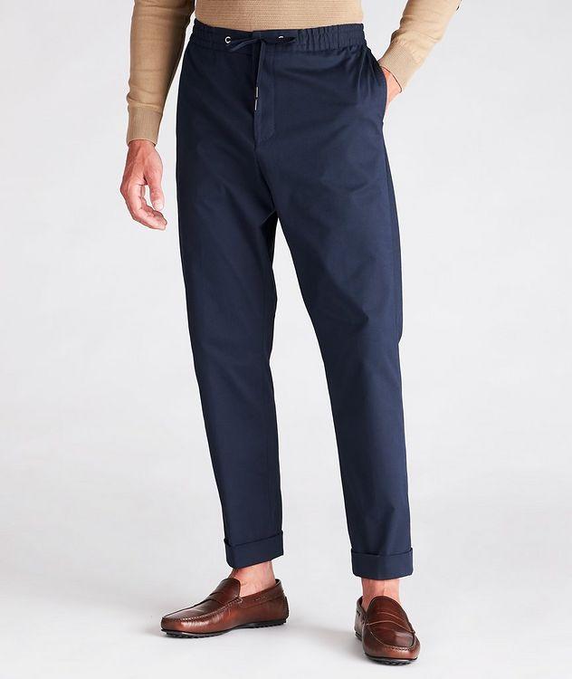 Travin Drawstring Stretch-Cotton Pants picture 2
