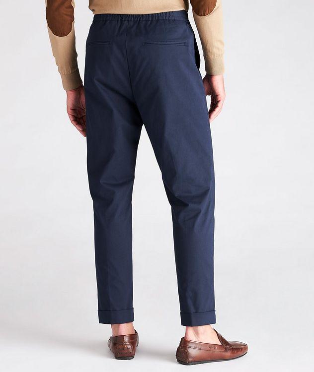 Travin Drawstring Stretch-Cotton Pants picture 3