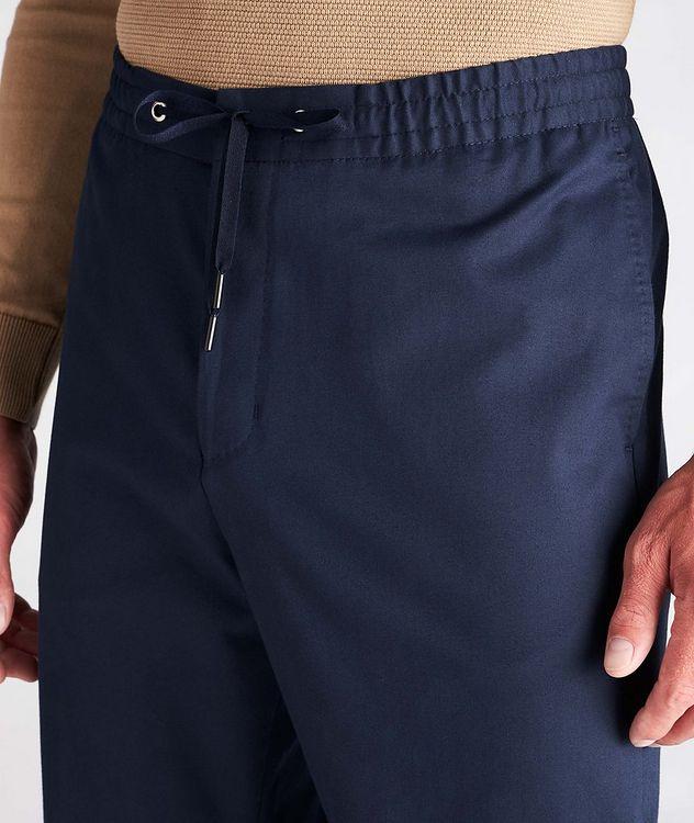 Travin Drawstring Stretch-Cotton Pants picture 4