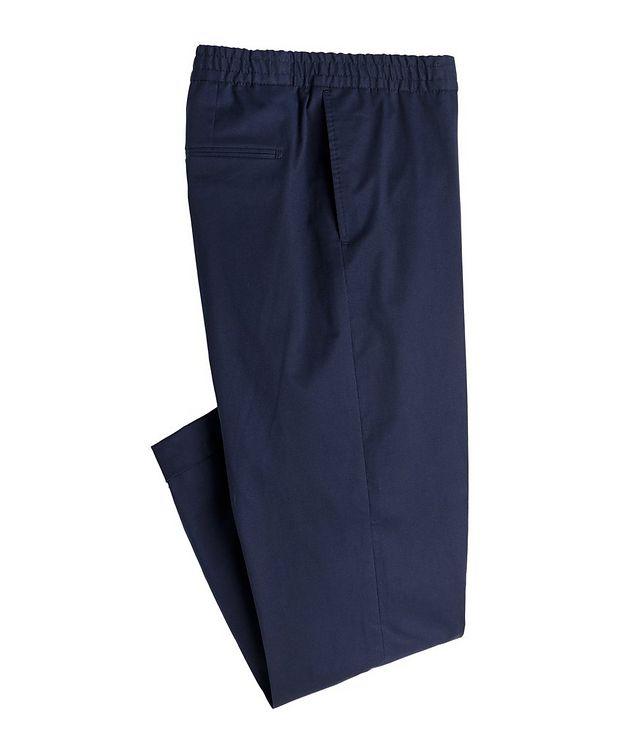 Travin Drawstring Stretch-Cotton Pants picture 1