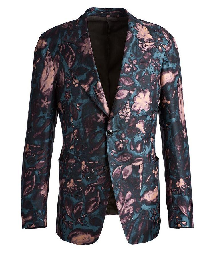 Giavio Floral Silk Sports Jacket image 0