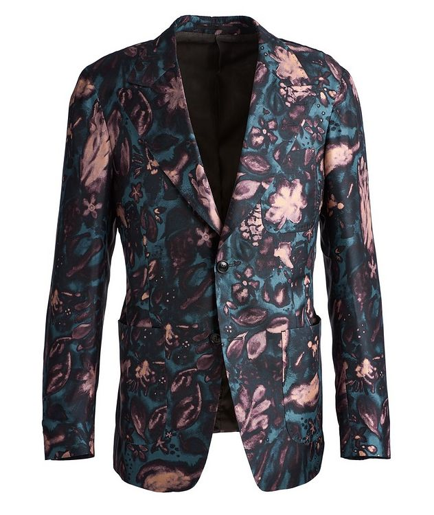 Giavio Floral Silk Sports Jacket picture 1
