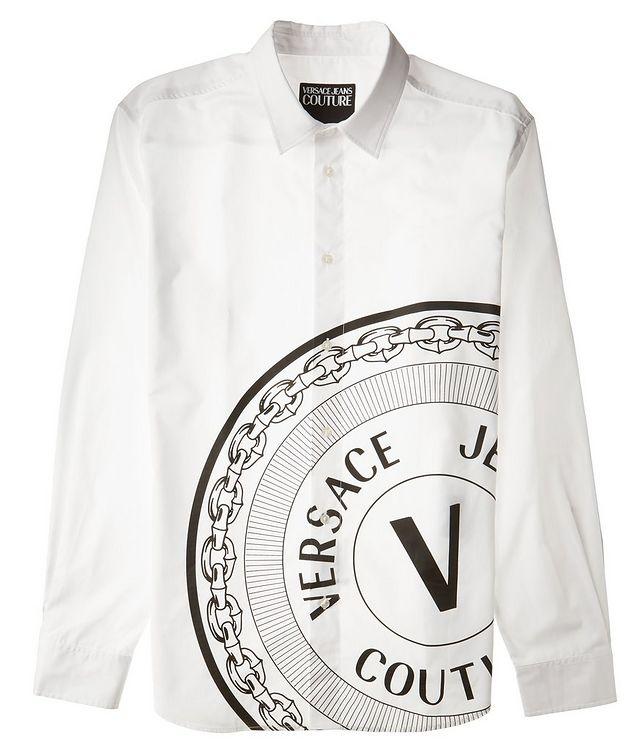 V-Emblem Printed Cotton Shirt picture 2