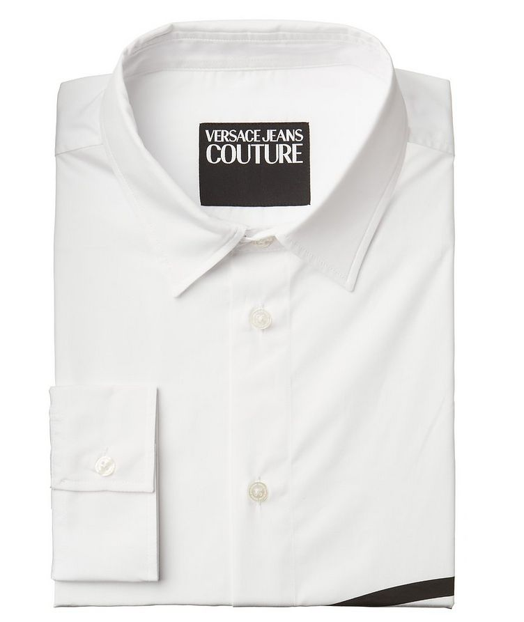 V-Emblem Printed Cotton Shirt image 0