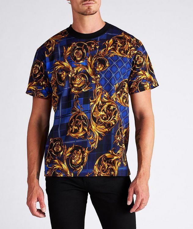 Plaid Baroque Cotton T-Shirt picture 2