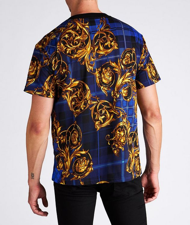 Plaid Baroque Cotton T-Shirt picture 3