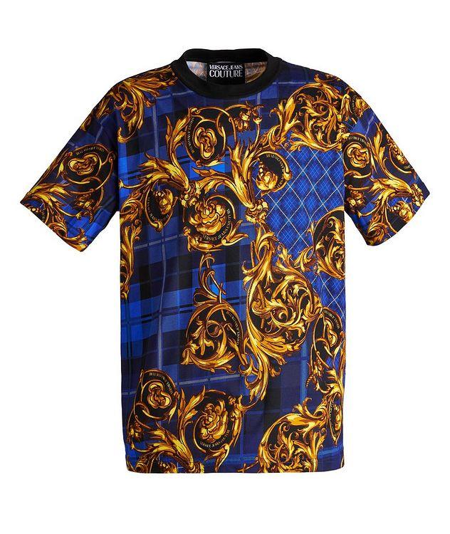 Plaid Baroque Cotton T-Shirt picture 1