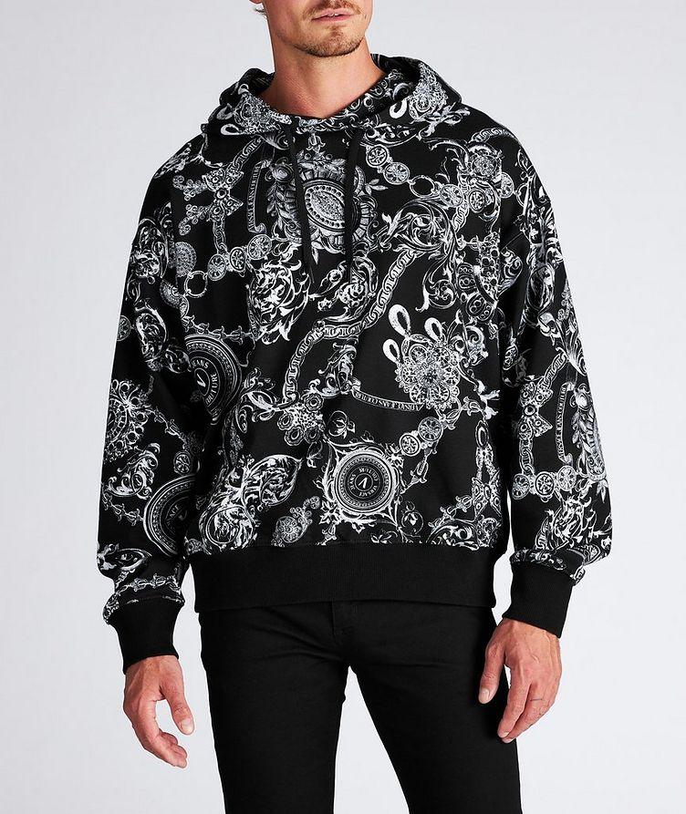 Baroque Drawstring Cotton Hoodie image 1