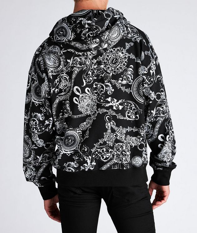 Baroque Drawstring Cotton Hoodie picture 3