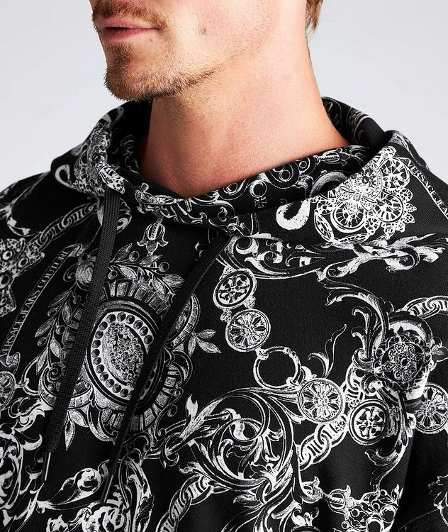 Baroque Drawstring Cotton Hoodie picture 4