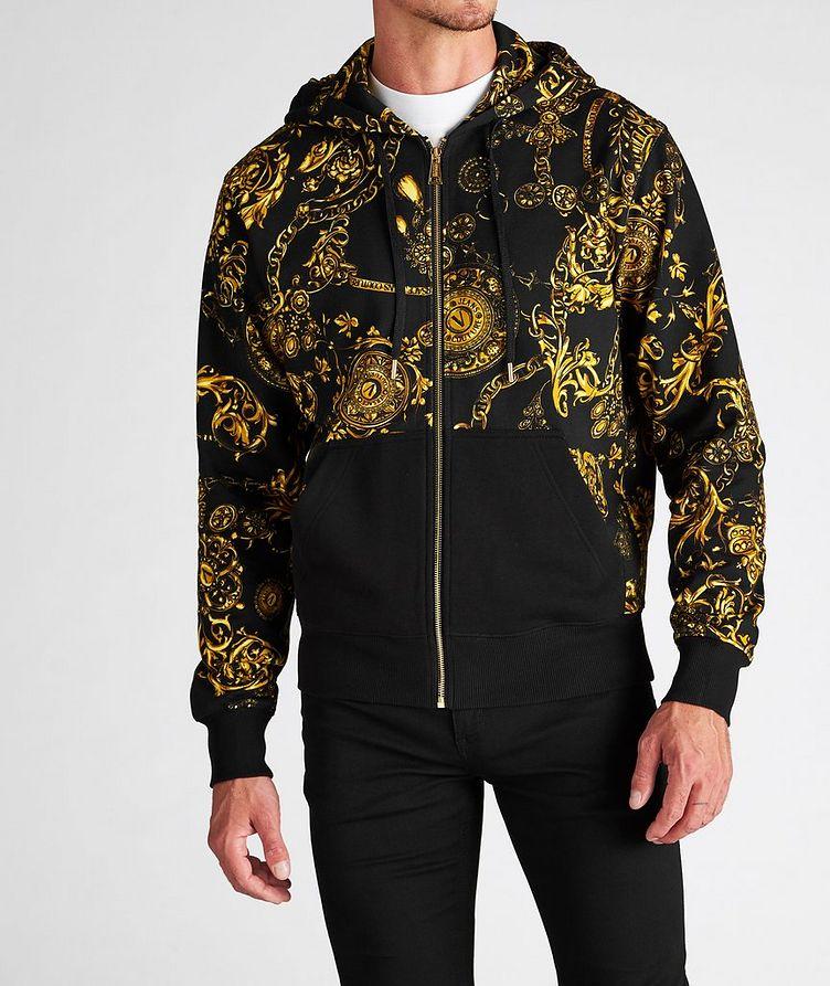 Bijoux Baroque Zip-Up Cotton Hoodie image 1