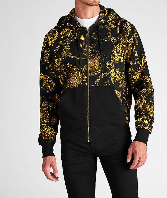 Bijoux Baroque Zip-Up Cotton Hoodie picture 2