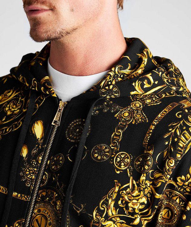 Bijoux Baroque Zip-Up Cotton Hoodie picture 4