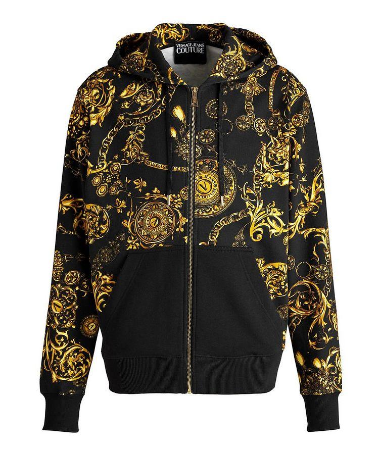 Bijoux Baroque Zip-Up Cotton Hoodie image 0