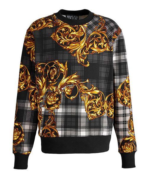 Versace Collection Plaid Baroque Cotton Sweatshirt