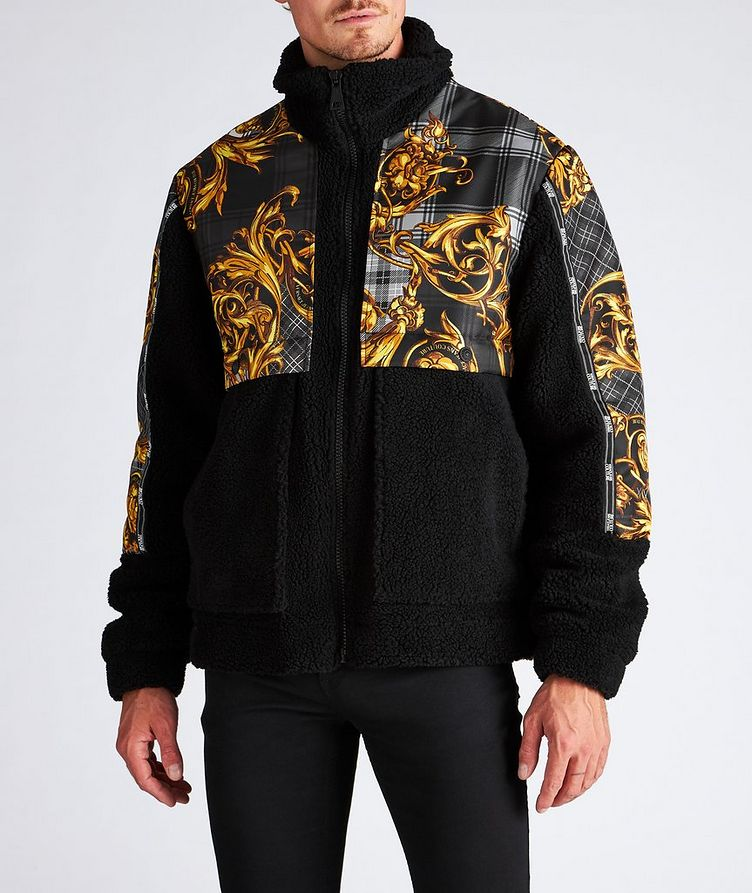Plaid Baroque Sherpa Jacket image 1