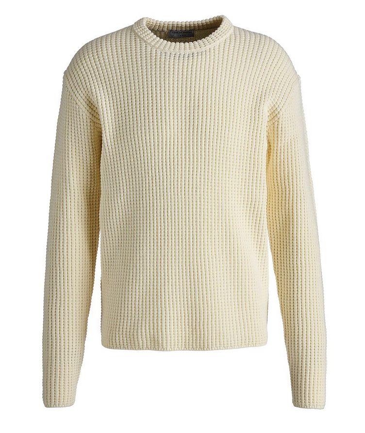 Brennon Cotton-Wool Waffle Knit Sweater image 0