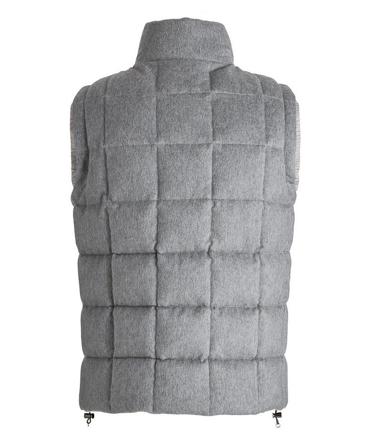 Cashmere Quilted Down Vest image 1